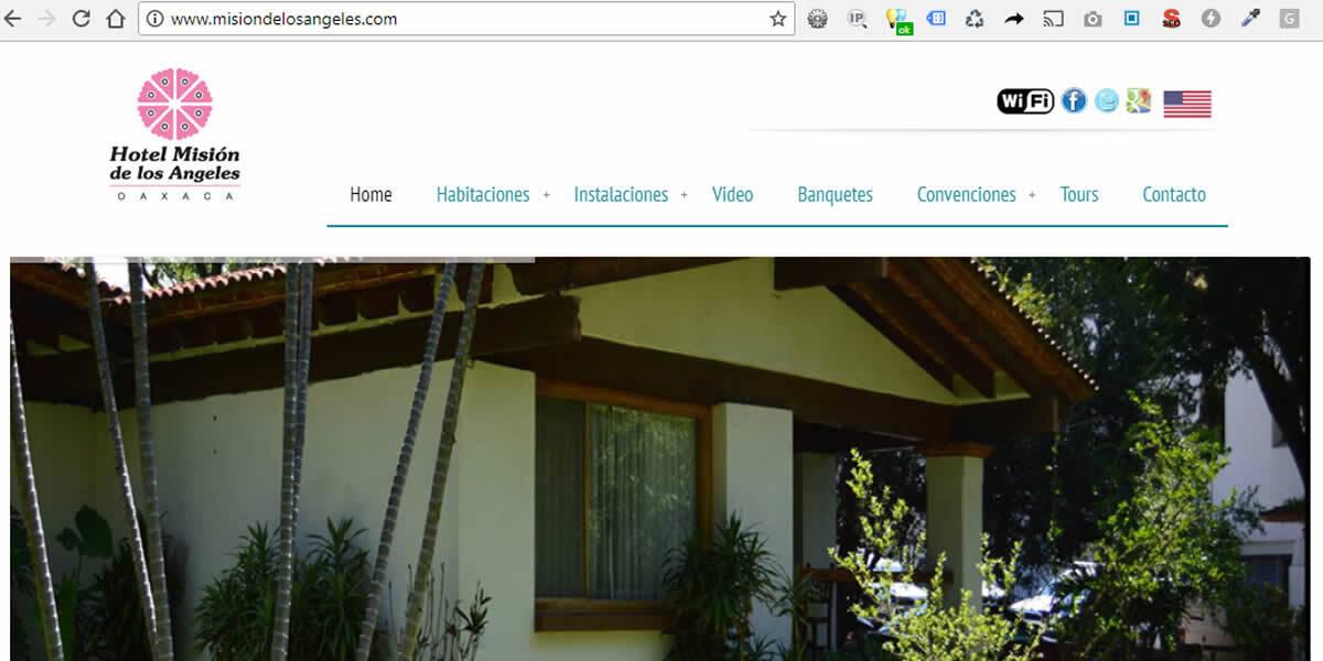 Hotel Misión de los Ángeles Oaxaca, Página Traducida al Inglés!